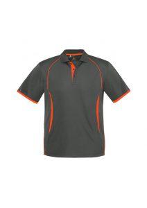 Razor Polo - Grey and Fluoro Orange