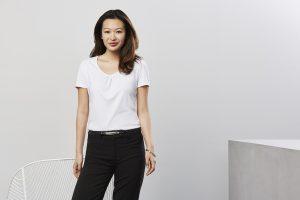 White blouse worn