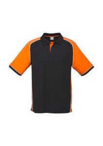 Black and orange polo