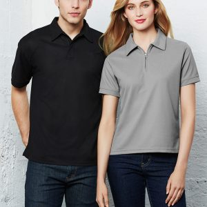 Black polo and Silver grey polo