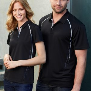 Black and silver polo