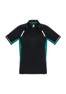 Renegade Polo - Black and Teal