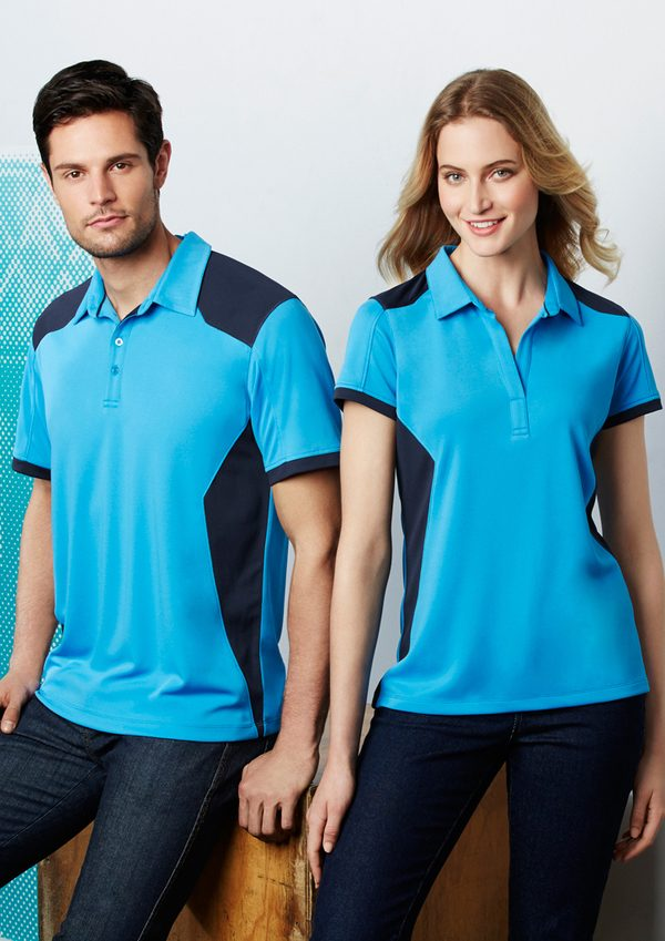 Cyan and Navy polo