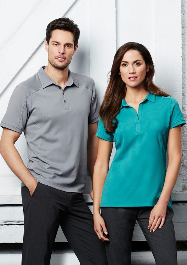 Grey polo and Turquoise polo
