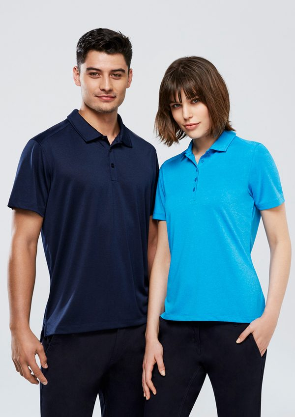 Navy polo and Cyan polo