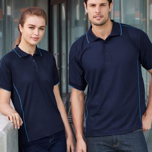 Navy and mid blue polo