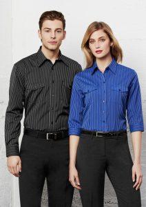 Black shirt and Blue shirt worn