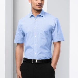 blue male shirt