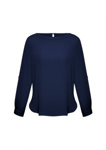 Midnight Blue Boatneck Top