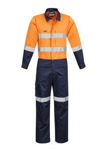 Orange/Navy taped overalls