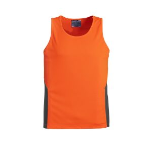 Orange and Navy Singlet
