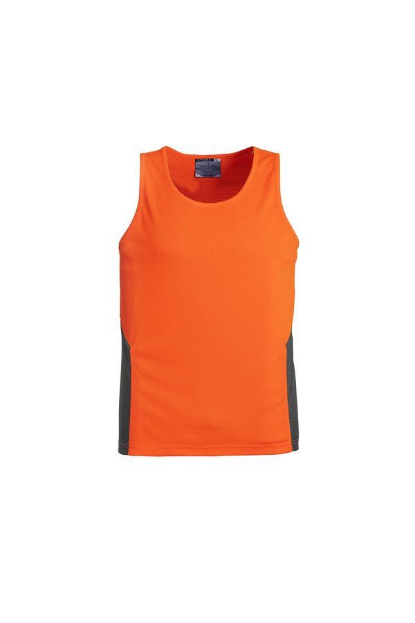 Orange and Navy Singlet