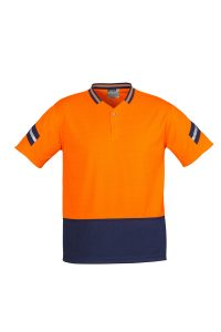Orange and Navy Polo
