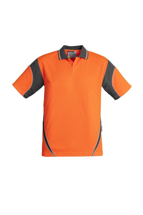 Orange/Charcoal Polo