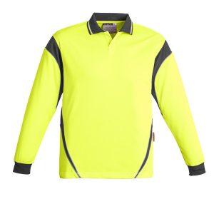 Yellow/Charcoal Polo