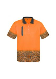 Orange and Charcoal Polo