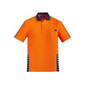 Orange and Navy Polo