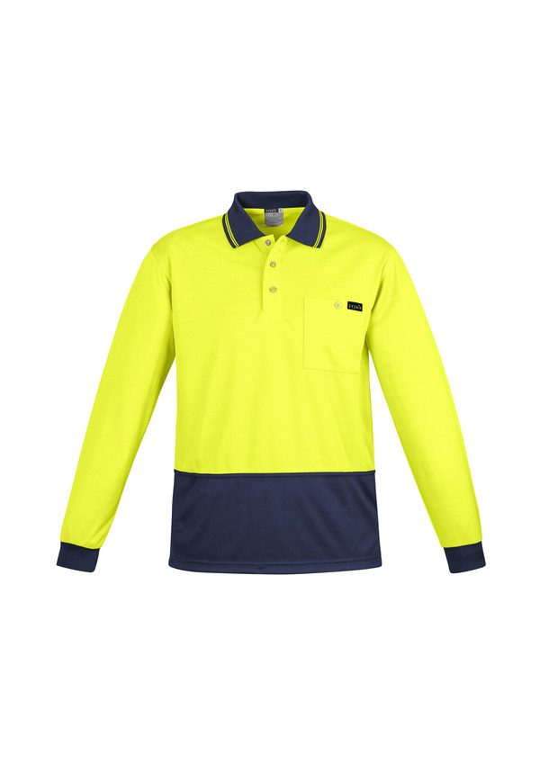 Yellow and Navy Longsleeve polo