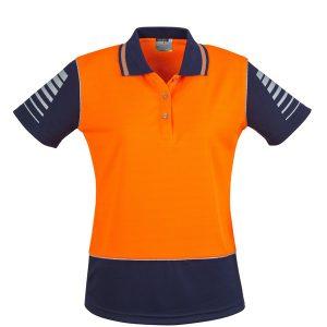 Orange/Navy polo