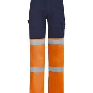 Orange and navy pants