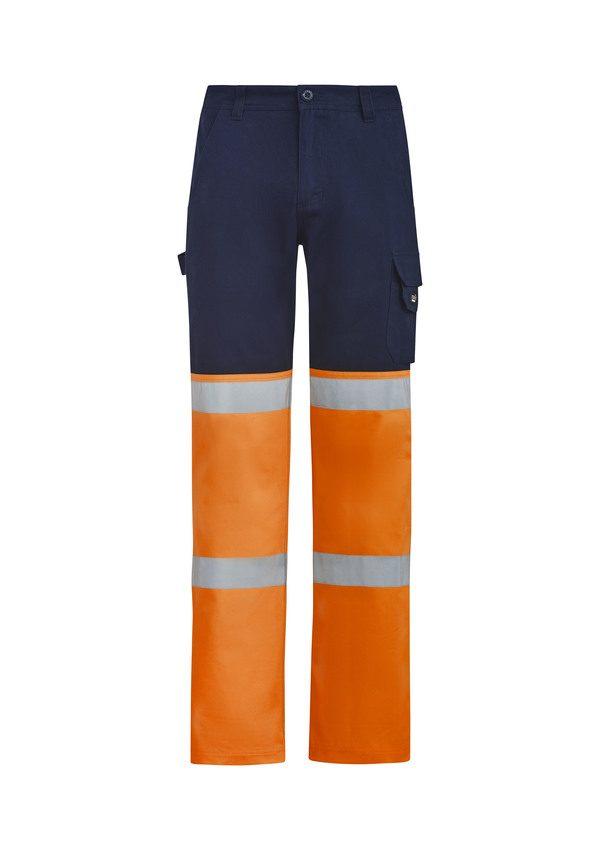 Orange and navy pants