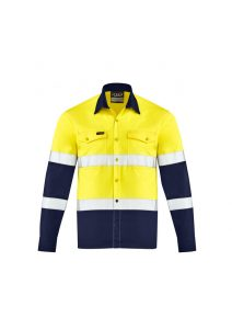 Yellow and Navy long sleev shirt