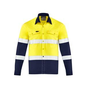 Yellow and Navy long sleev shirt