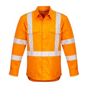 Orange long sleeve shirt