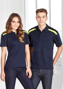 Navy and Lime polo