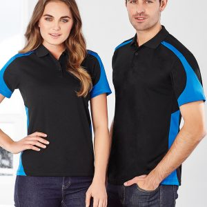 Black and royal polo
