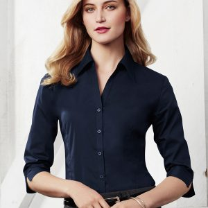 Navy long sleeve shirt worn