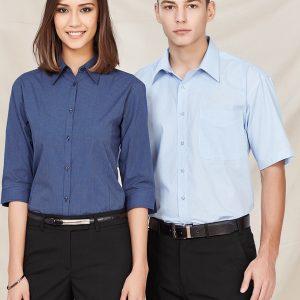 Blue shirt worn