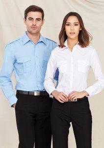 Blue shirt and White shirt worn