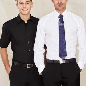 Black Shirt and White shirt worn