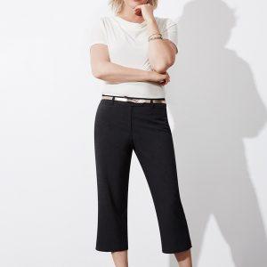 Black 3/4 pants worn