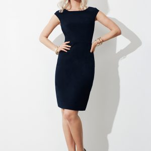 Navy dress worn