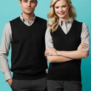 Black vest worn