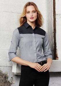 3/4 sleeve shirt worn